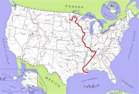 united states map mississippi river  travel information