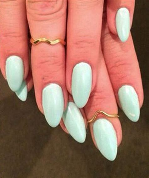 kesha mint green nails steal  style