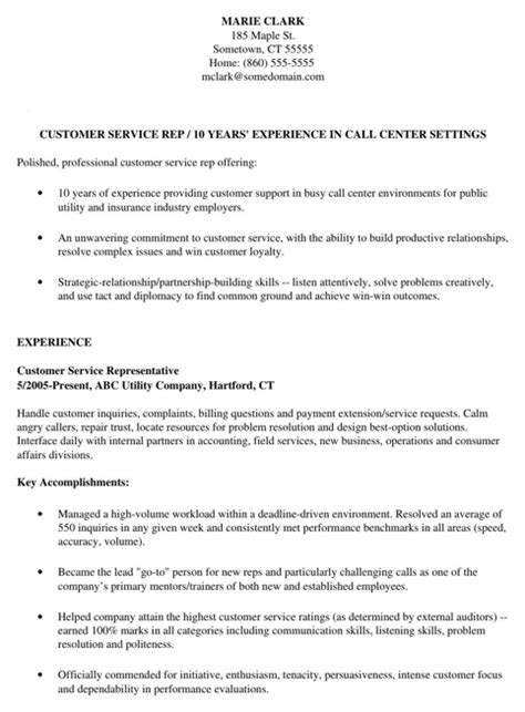 customer service resume template for excel pdf and word