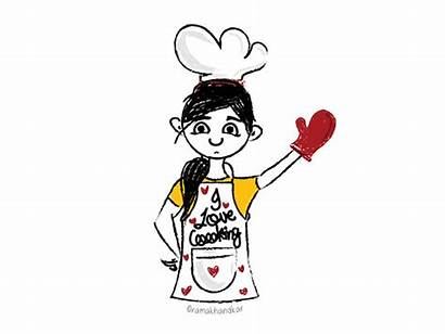 Cooking Cook Dribbble Sketch Graphic