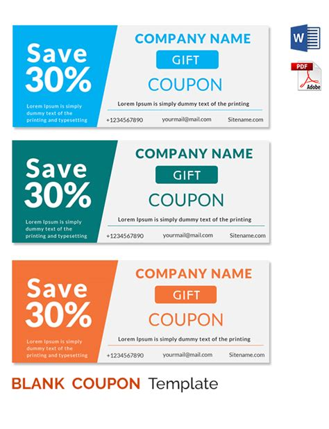 Coupon Templates Printable Free by Blank Coupon Templates 26 Free Psd Word Eps Jpeg