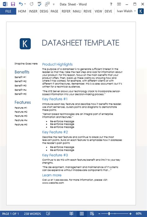 Information Mapping Word Template