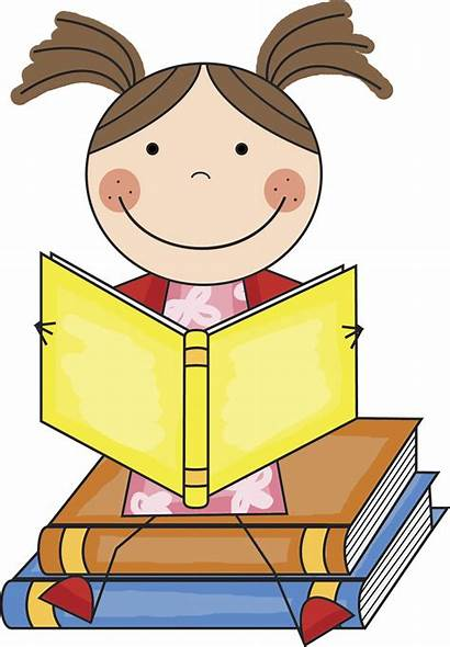 Clipart Reading Student Clip Cartoon Clipartion Woman