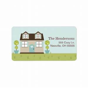 cozy little home address labels With home address stickers