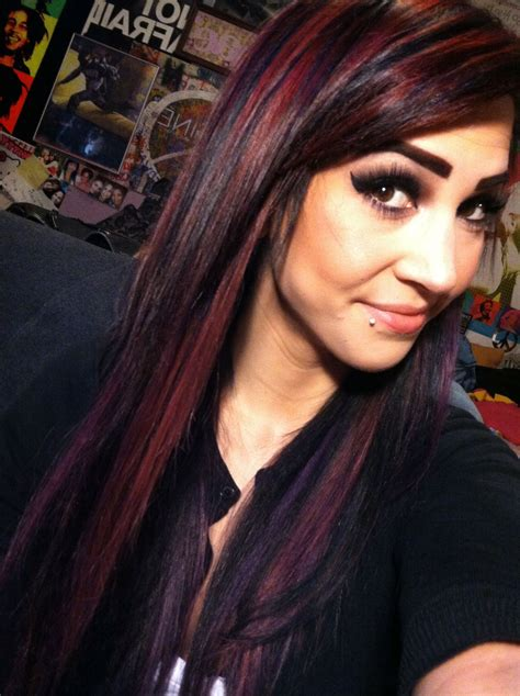 Black Red And Purple Bright Hair Color My Hairr