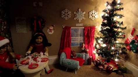 american girl doll christmas room youtube
