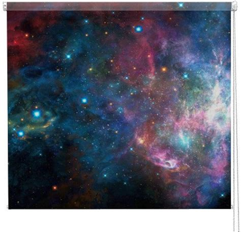 galaxy printed blind picture printed blinds  artylicious