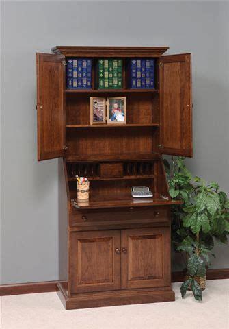 solid wood secretary desk hutch