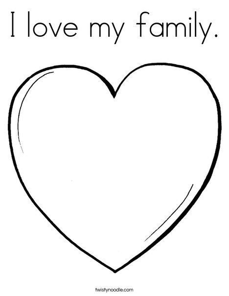 love  family coloring page twisty noodle preschool