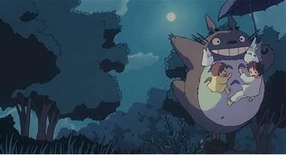 Ghibli Totoro Studio Flying Scenes Anime Neighbor