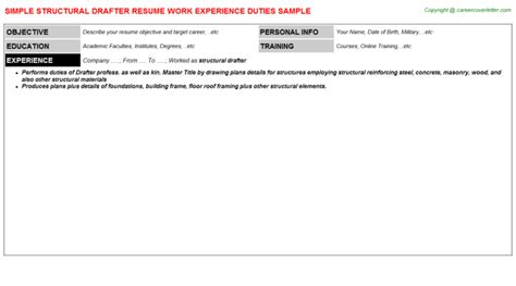 Structural Drafter Resume Exles by Structural Steel Foreman Resumes