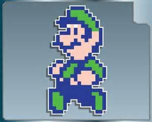 Super Mario 8-Bit Luigi