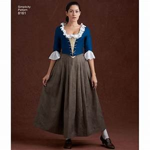 Simplicity Pattern 8161 Misses' 18th Century Costumes