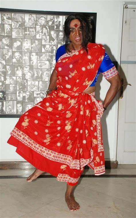 sarath kumar   kanchana  lady getup