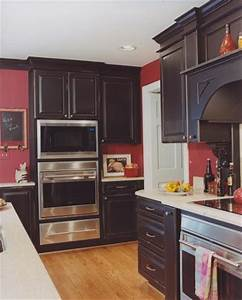 Best 25 red kitchen walls ideas on pinterest red paint for Kitchen cabinets lowes with red black wall art