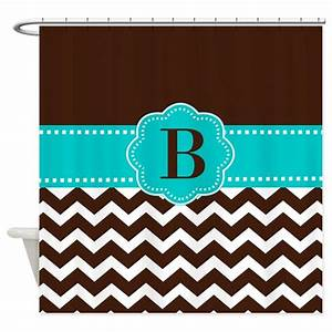 brown teal chevron monogram shower curtain by With kitchen colors with white cabinets with monogram stickers for cups