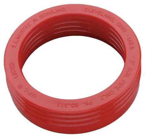 mustee drain seal rubber red 3 in 65 311 zoro com