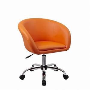 Chaise A Roulette : fauteuil roulette tabouret chaise de bureau orange bur09027 d coshop26 ~ Teatrodelosmanantiales.com Idées de Décoration
