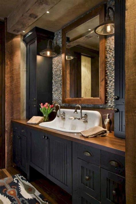 Modern Rustic Bathroom Design by Modern Rustic Farmhouse Style Master Bathroom Ideas 12