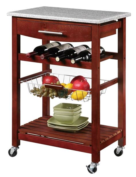 Napa Kitchen Cart by Home Styles Napa Kitchen Cart With Storage The