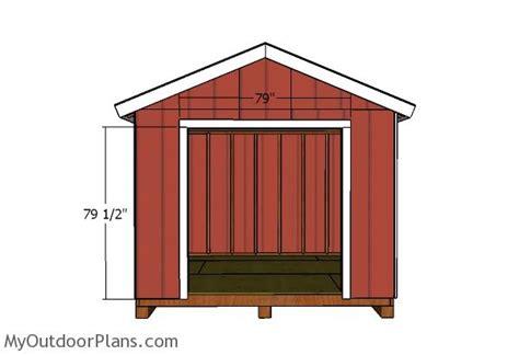 double shed doors plans myoutdoorplans