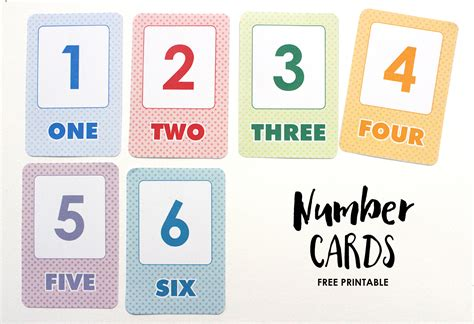 Free Printable Simple Number Flash Cards