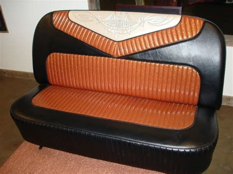 Pinstriped Embroidered Bench Seat