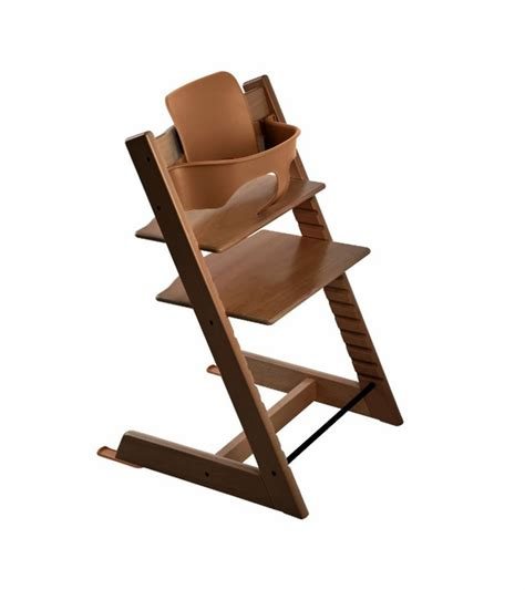 stokke tripp trapp high chair baby set walnut