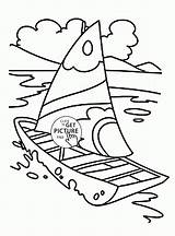 Coloring Boat Pages Sailing Transportation Printables Wuppsy Truck Water Toddlers Ship Boats Sheets Fire Trucks Yacht Tags Find Kid Tow sketch template