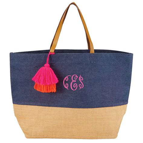 personalized beach bags eco friendly jute