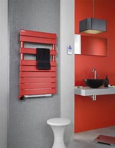 radiateur seche serviette regate air electrique blanc With radiateur salle de bain acova