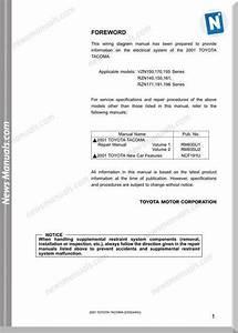 Toyota Tacoma Wiring Manual
