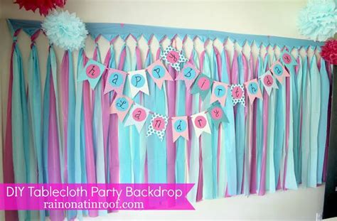 Cheap Diy Backdrop by Cheap And Easy Background With Tablecloths Part 2