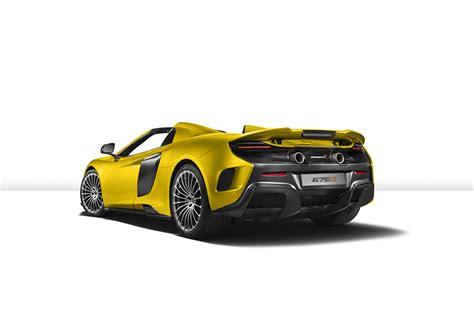 mclaren lt spider yellow cars  view white