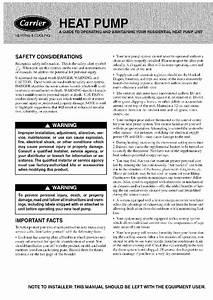 Carrier 38ycc018 Heat Pump Manual Pdf View  Download