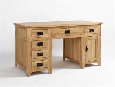 oak bureau desk westbury reclaimed oak pedestal desk