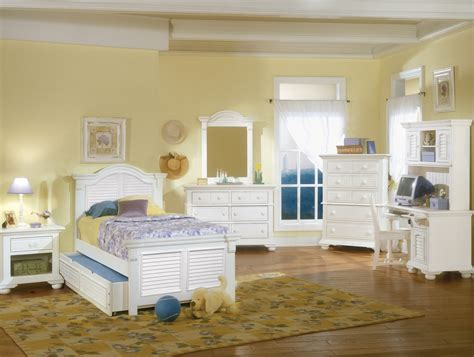 Cottage Traditional White Twin Bedroom Furniture Set|free