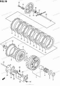 Suzuki Motorcycle 2002 Oem Parts Diagram For Clutch