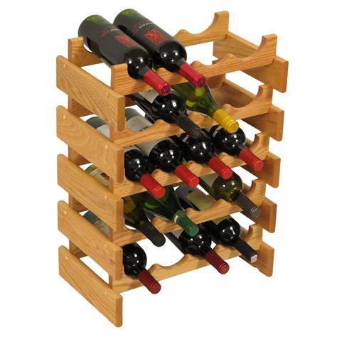 Wood Wine Rack  20 Bottle In Wine Racks
