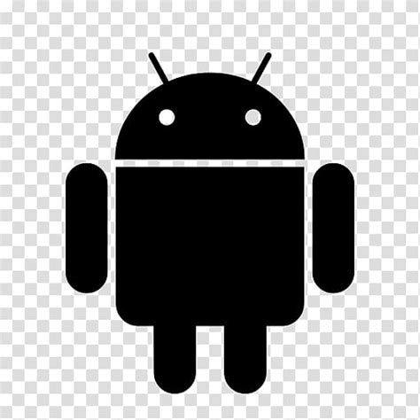 black android android icon logo mobile app android logo
