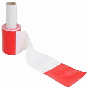 50m Barrier Tape Red/White