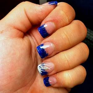 Blue and silver nail designs for prom ideas about royal