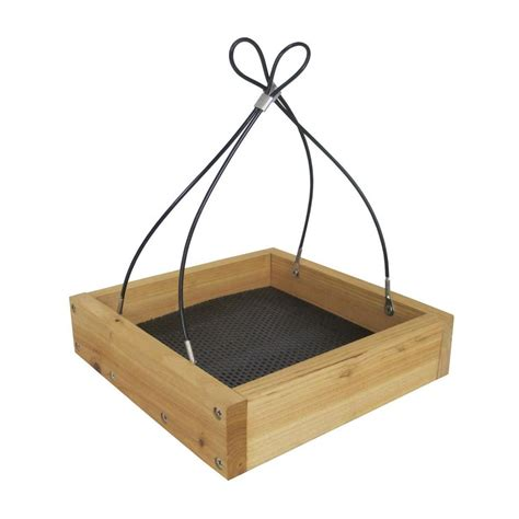 nature s way bird products cedar tray wild bird feeder