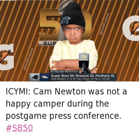 Cam Meme - funny super bowl 50 football nfl and sports memes of