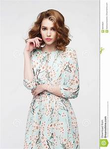 Portrait Of A Lovely Woman In Casual Romantic Summer Dress ...