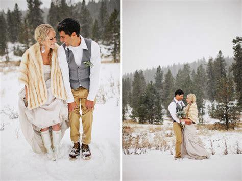 A Snowy Winter Wedding Kezia Ashton Green Wedding