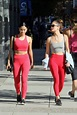 CAMILA MENDES and RACHEL MATTHEWS in Tights Heading to a ...