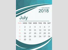 July 2018 Calendar Holidays Editable Doc Free Download