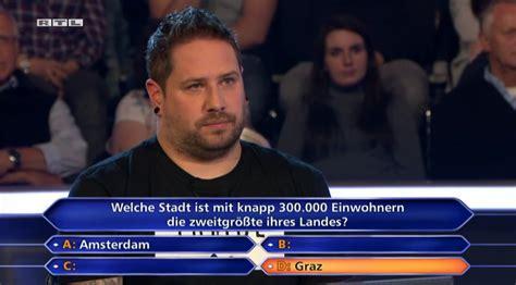 """Alles was sie heute wissen müssen: """"Wer wird Millionär"""": Kandidat scheitert an Österreich ..."""