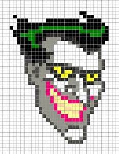 joker head batman perler pixel art perler bead action With minecraft pixel art templates batman